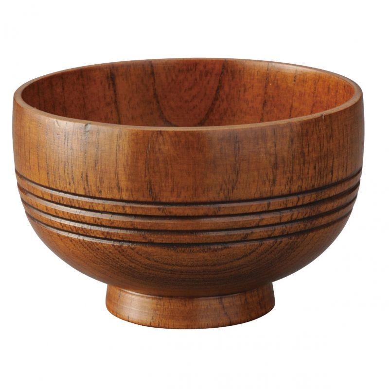 Hotei 4line - Ramenskål i trä